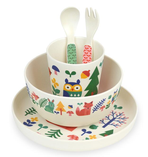 Forest Friends Bamboo Baby Dinnerware Set by Petit Collage