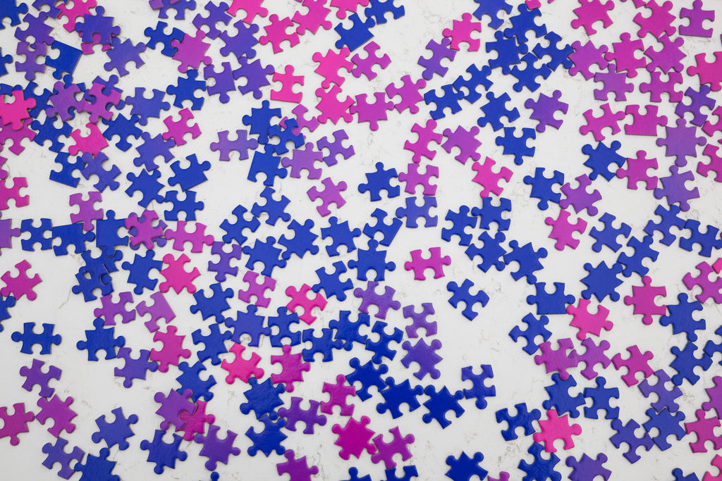 Gradient Puzzle in Pink & Blue design by Areaware