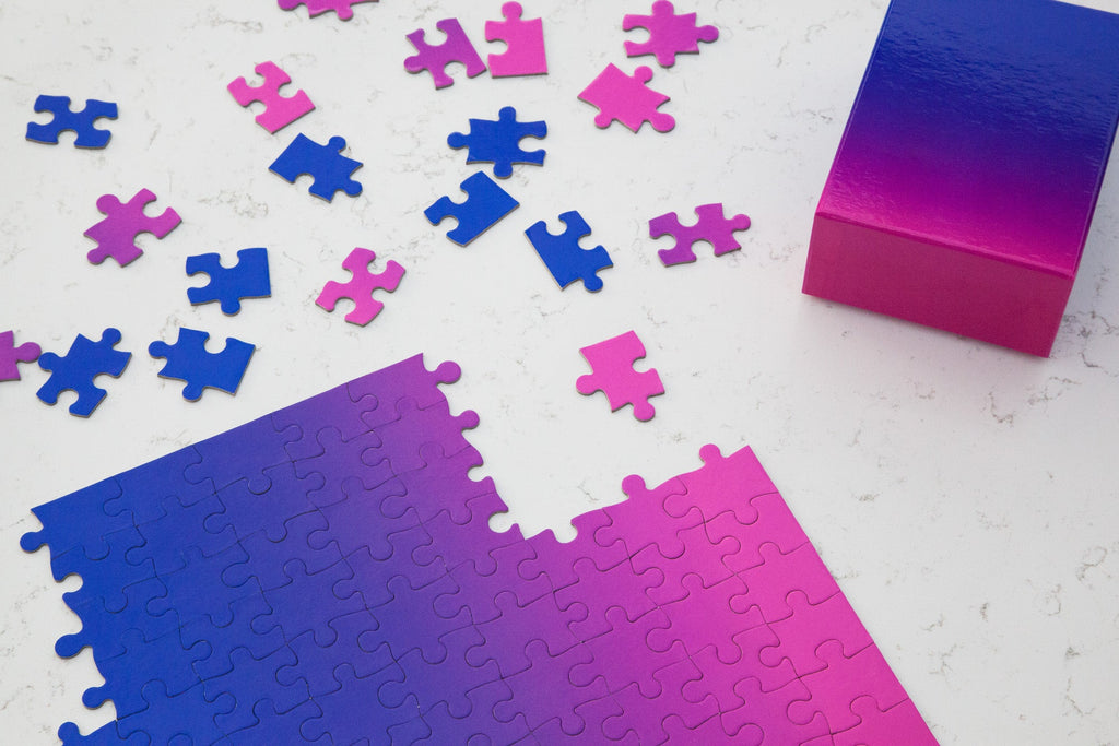 Gradient Puzzle Small in Pink & Blue design by Areaware