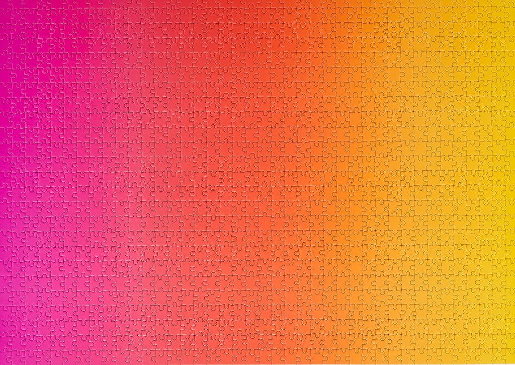 Gradient Puzzle Large in Pink, Orange, & Yellow design by Areaware