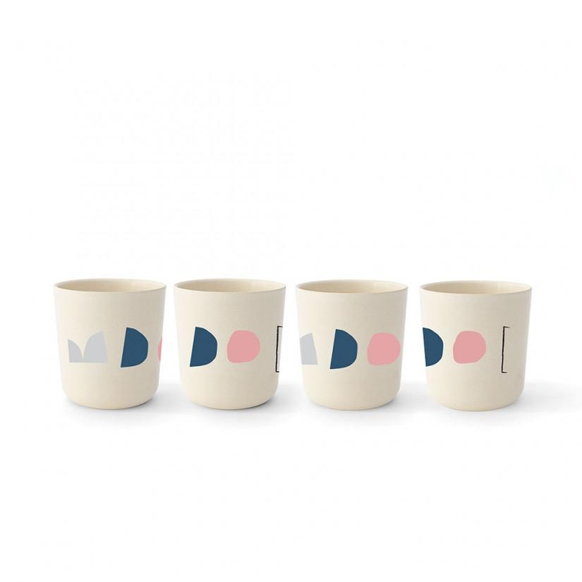 Gusto Bamboo Illustrated Medium Cup Set design by EKOBO