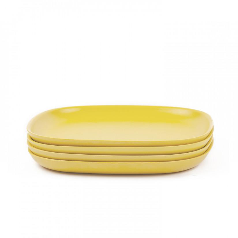 Gusto Bamboo Medium Plate in Various Colors design by EKOBO