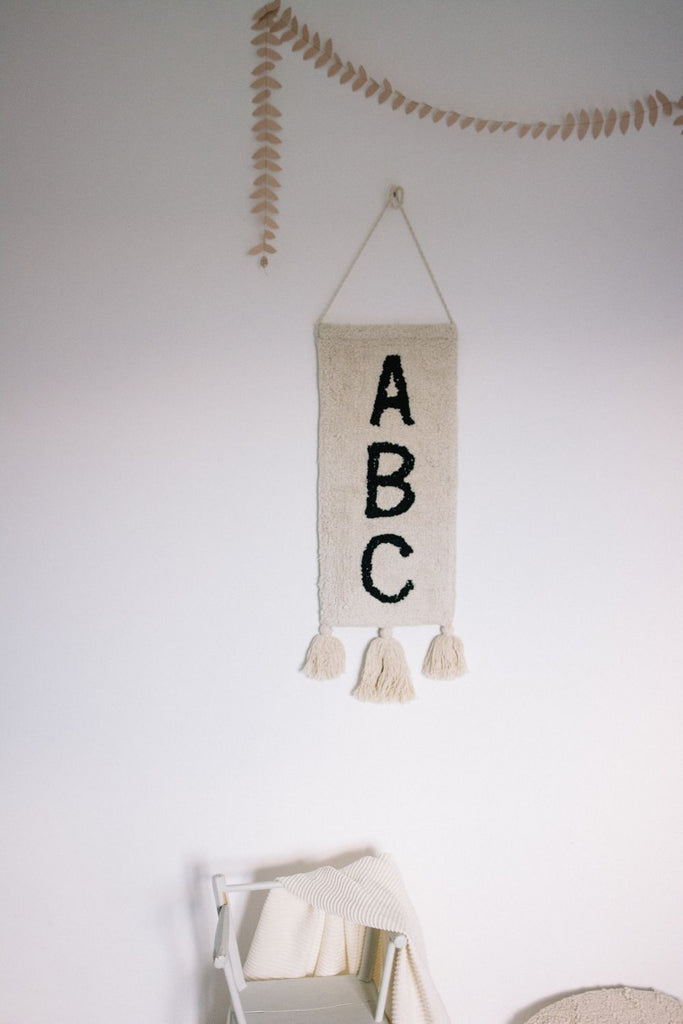 Wall Hanging ABC design by Lorena Canals