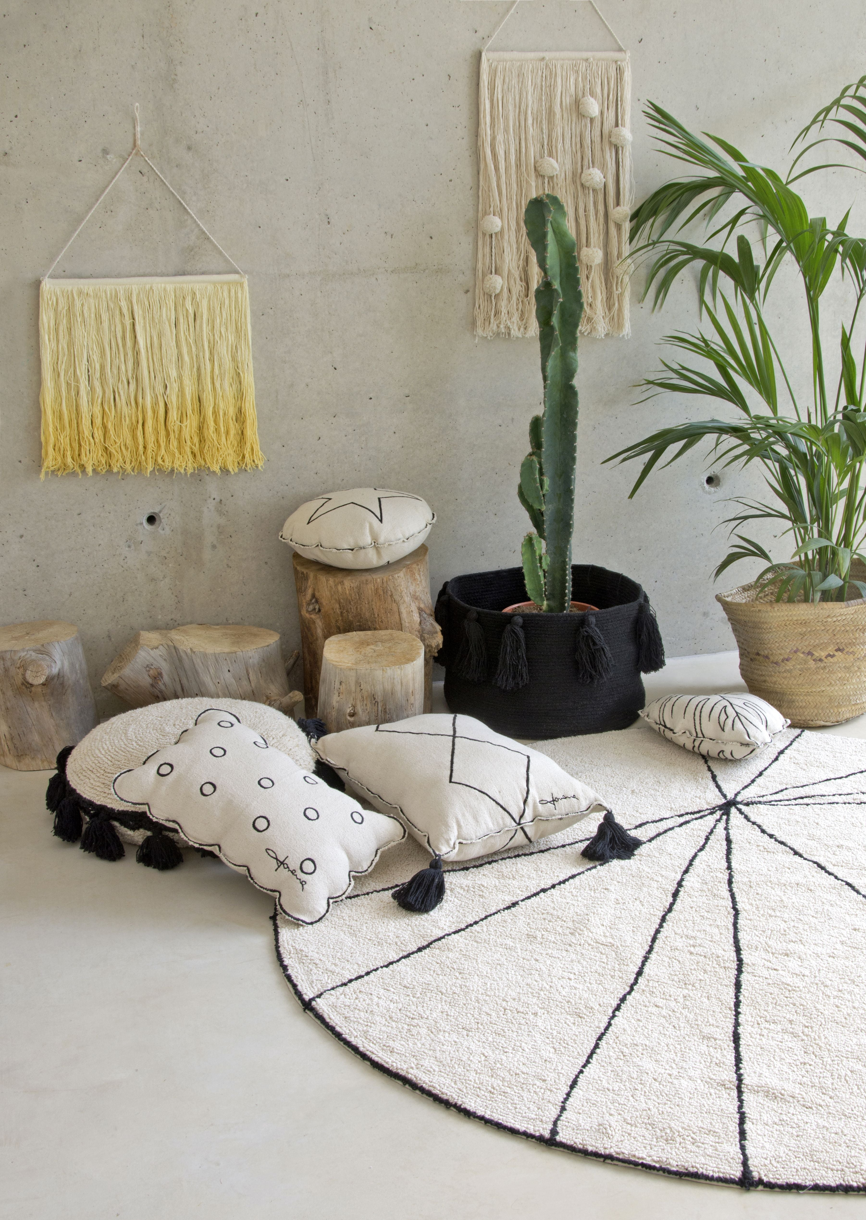 Wall Hanging Cotton Field design by Lorena Canals