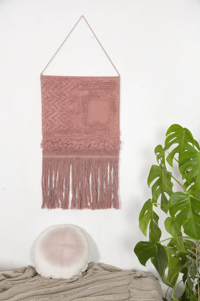 Earth Wall Hanging in Canyon Rose