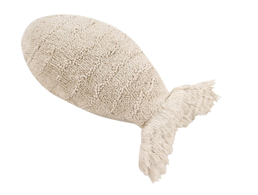 Baby Fish Cushion in Natural design by Lorena Canals