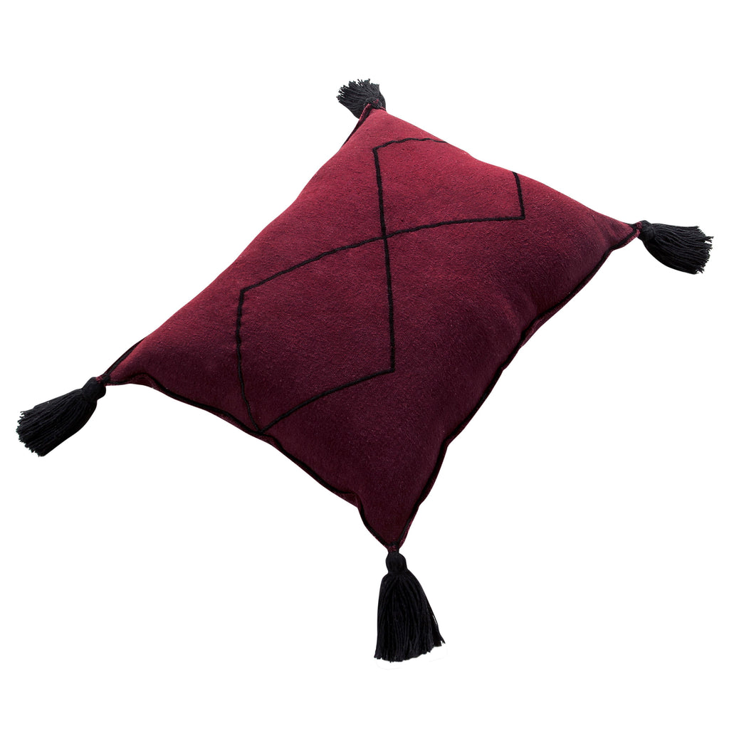 Bereber Cushion in Burgundy design by Lorena Canals