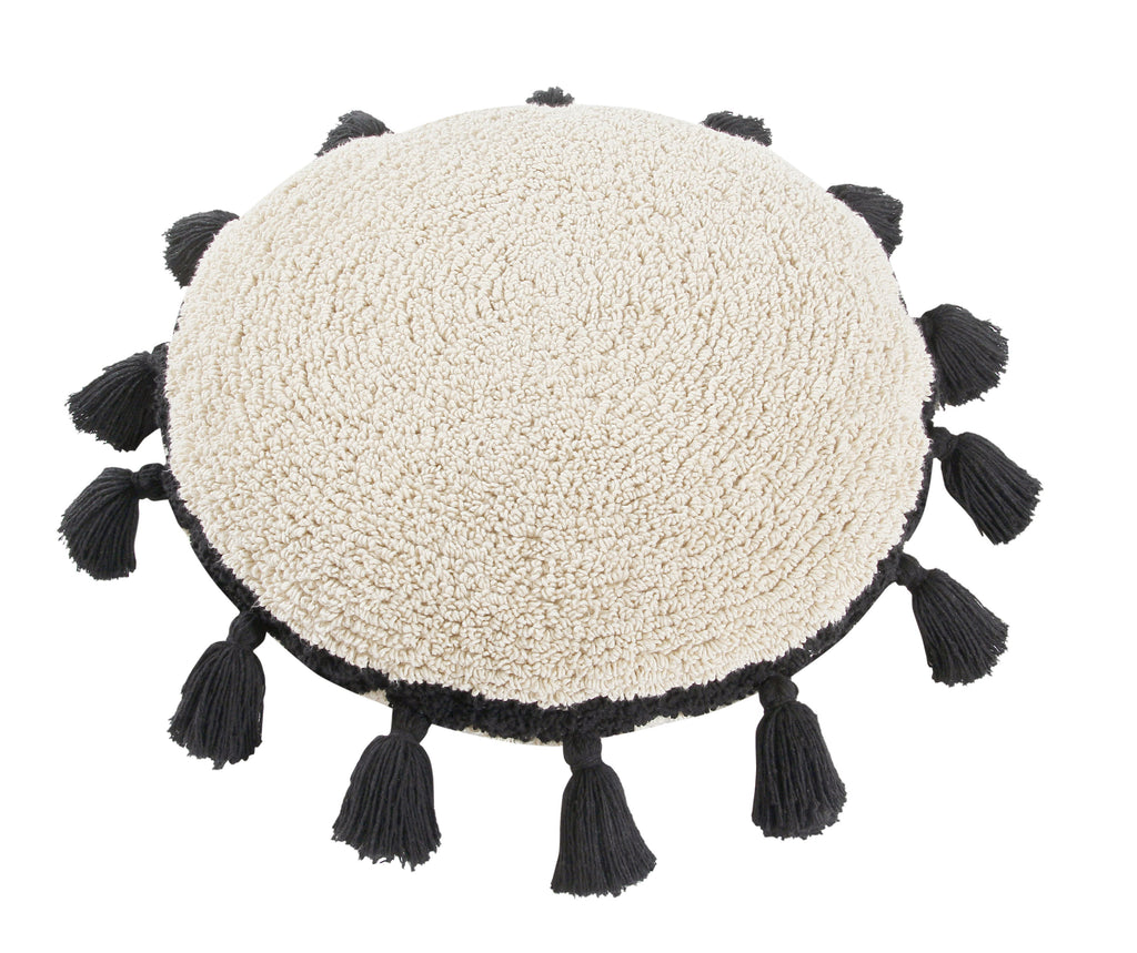 Circle Cushion in Black design by Lorena Canals