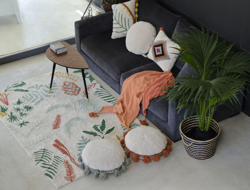 Circle Cushion in Terracota design by Lorena Canals