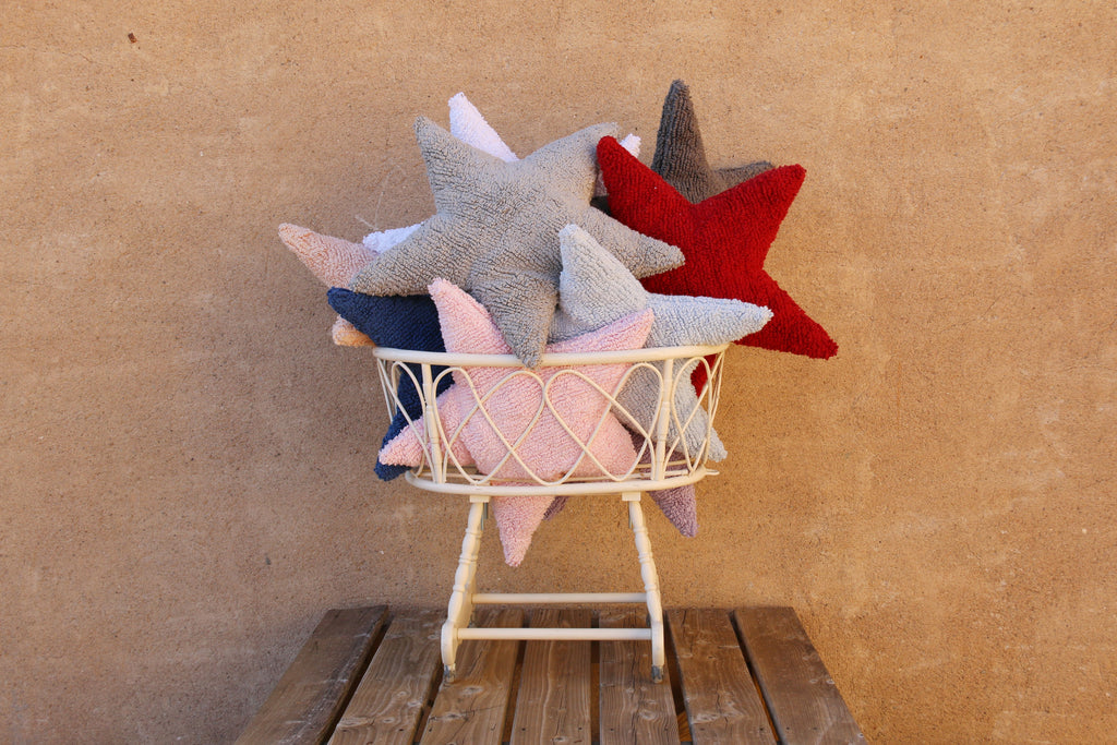 Star Cushion in Navy design by Lorena Canals