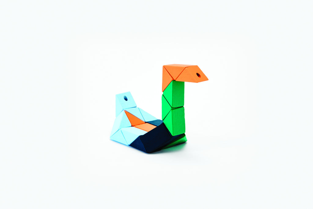 Snake Block® in Small Orange & Blue design by Areaware