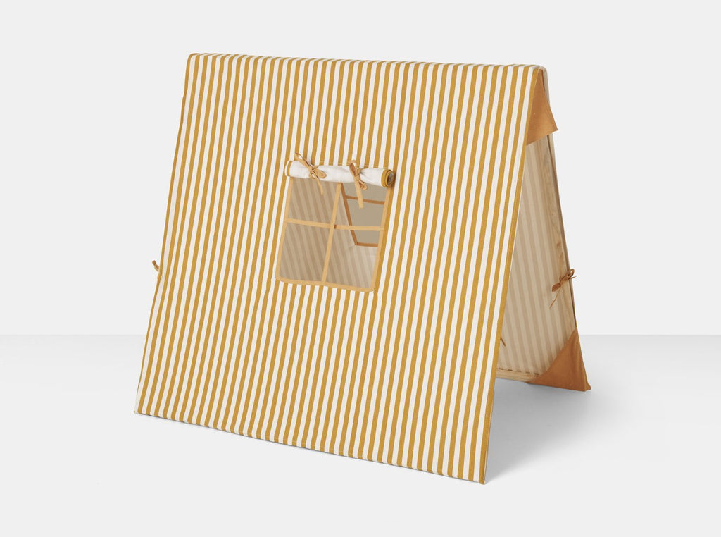 Mustard Thin Striped Tent by Ferm Living