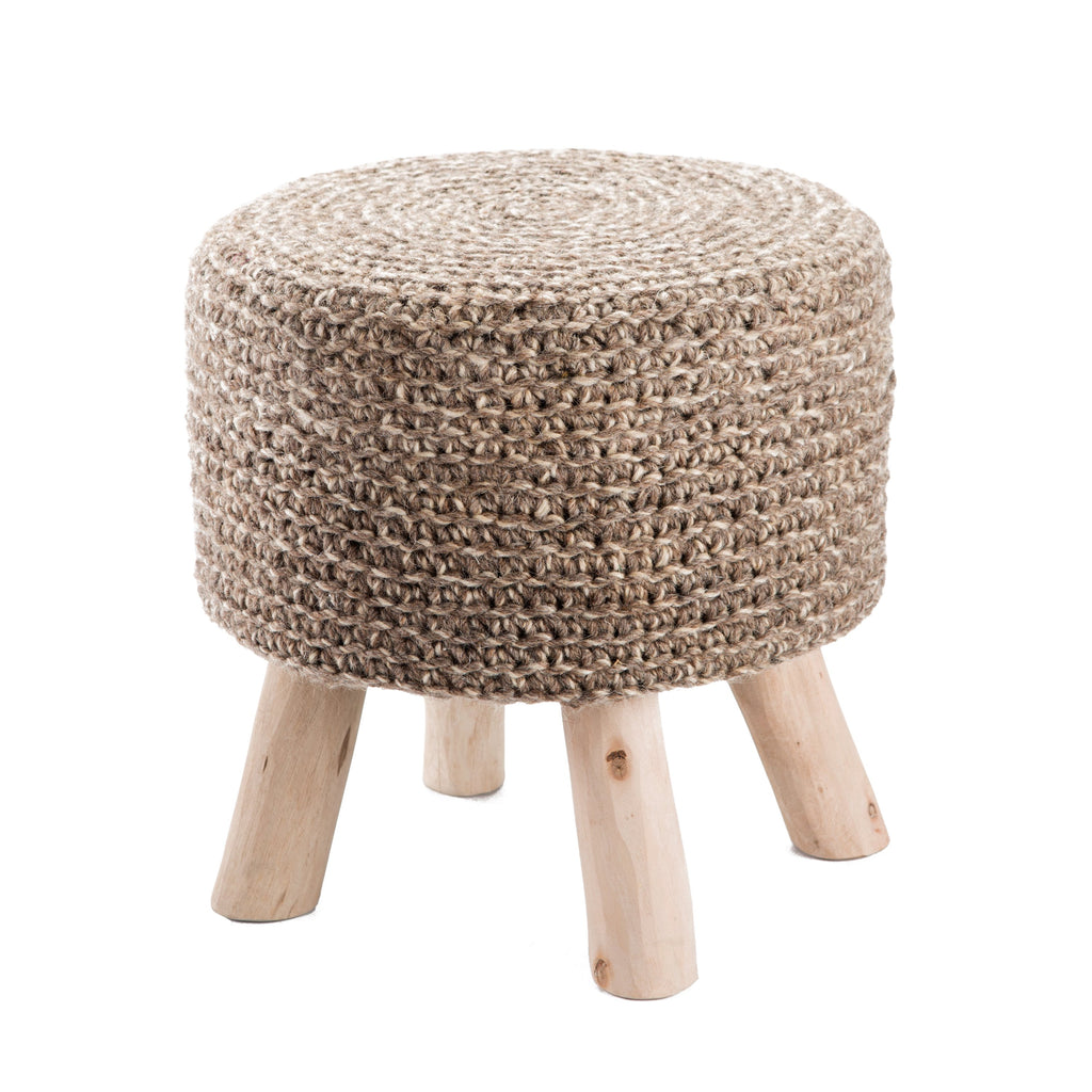 Montana Knitted Taupe Stool