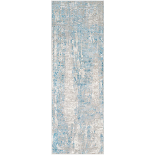 Aisha Rug in Sky Blue & Medium Gray