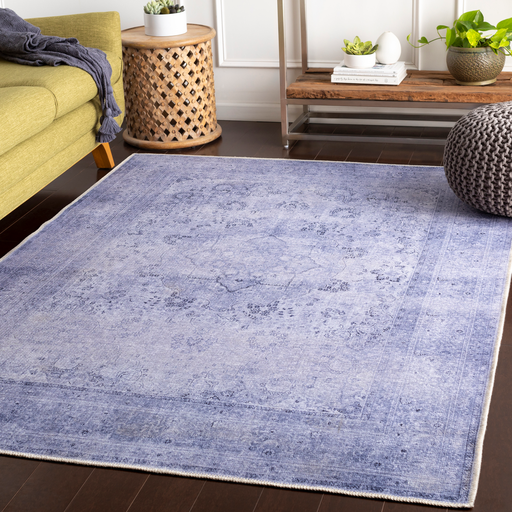Amelie Rug in Lavender & Dark Blue