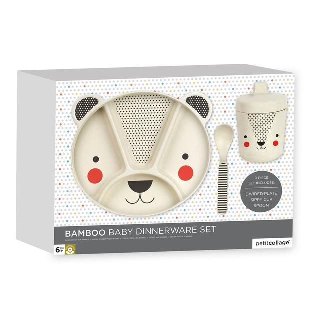 Bear Bamboo Baby Dinnerware Set by Petit Collage