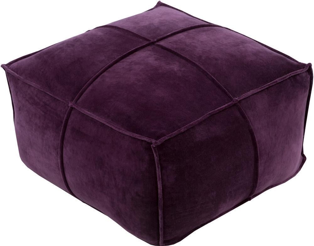 Dark Purple Pouf