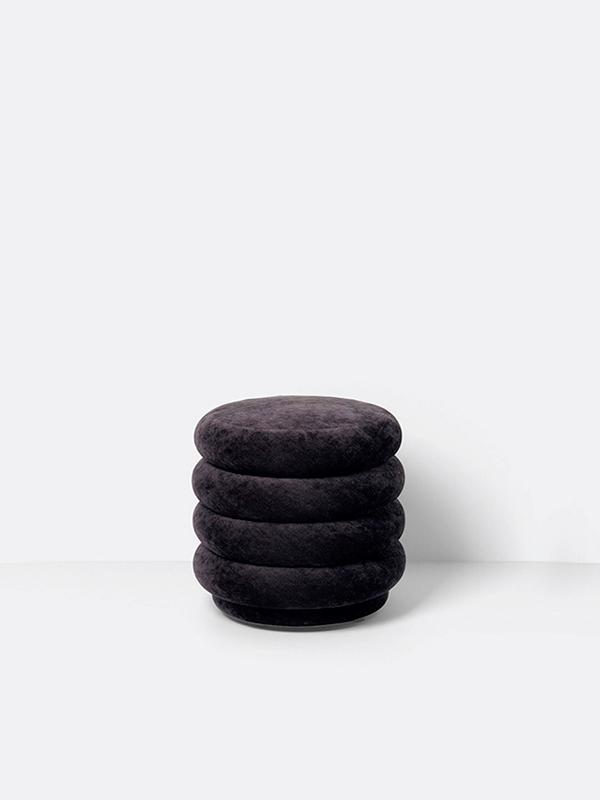 Small Round Pouf in Mokka by Ferm Living