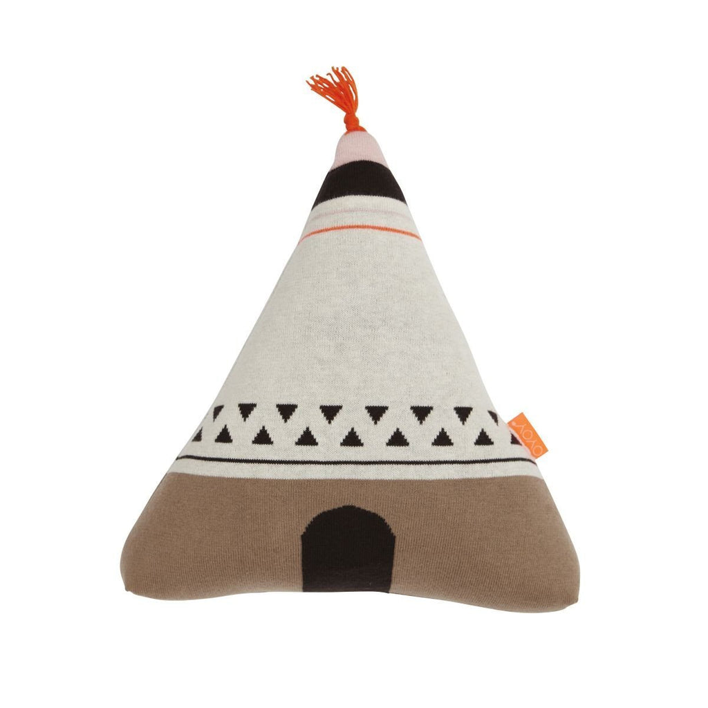 Wigwam Cushion in Orange design by OYOY