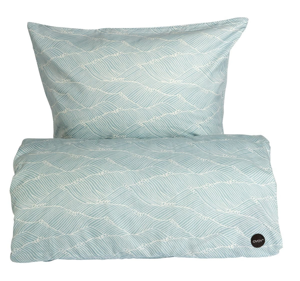 PoiPoi Bedding in Dusty Aqua design by OYOY