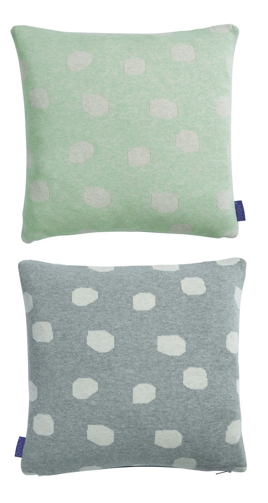 Smilla Cushion in Pale Mint & Light Grey design by OYOY