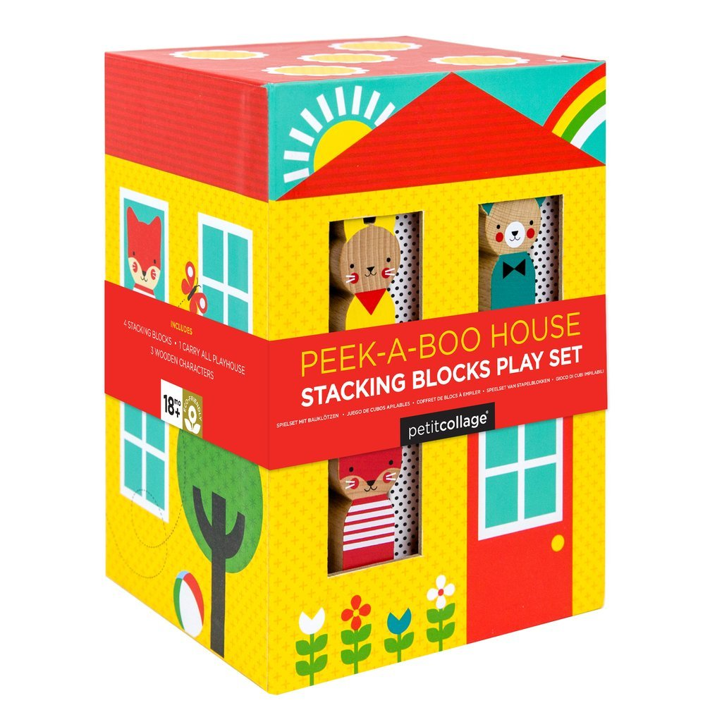 Peek-A-Boo House Stacking Blocks Play Set by Petit Collage