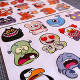 2 planches de stickers