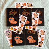Lot de 5 carnets de notes (+ stickers)