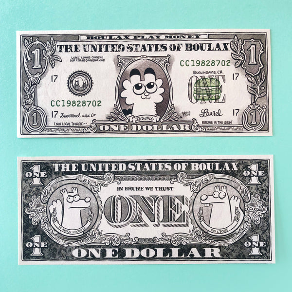 Lot de 2 faux dollars