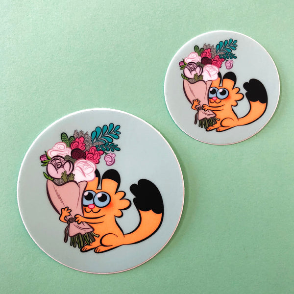 "Lot de 2 stickers ""Bouquet de fleurs"""