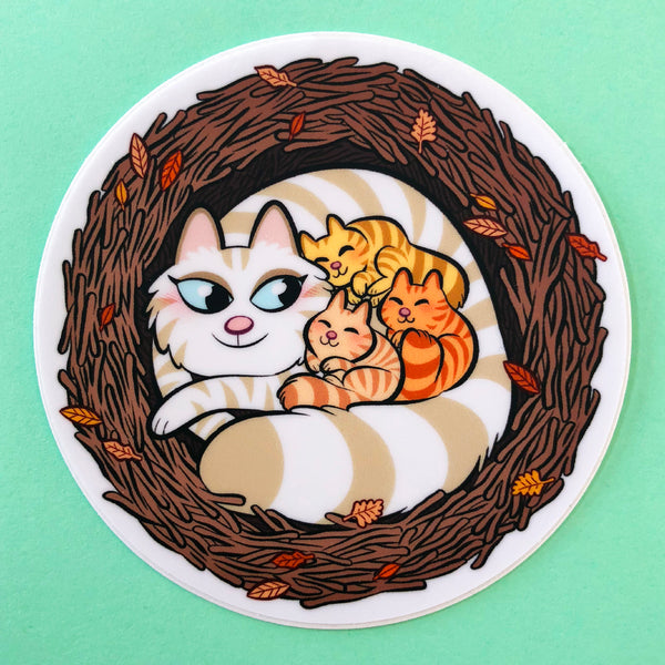 "Sticker ""Nid de chatons"""