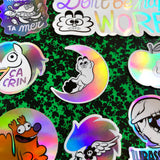 "Sticker ""Grub"" holographique"