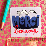 "Sticker ""Merci beaucoup"""