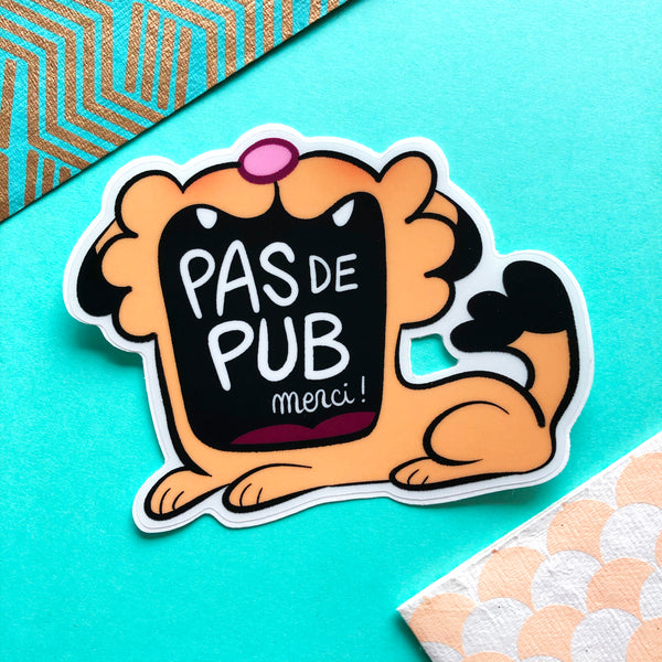 "Grand sticker ""Pas de pub"""