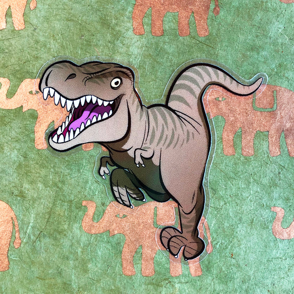 "Sticker transparent ""T Rex"""