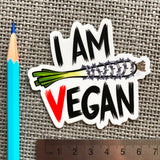 "Sticker ""I am vegan"""