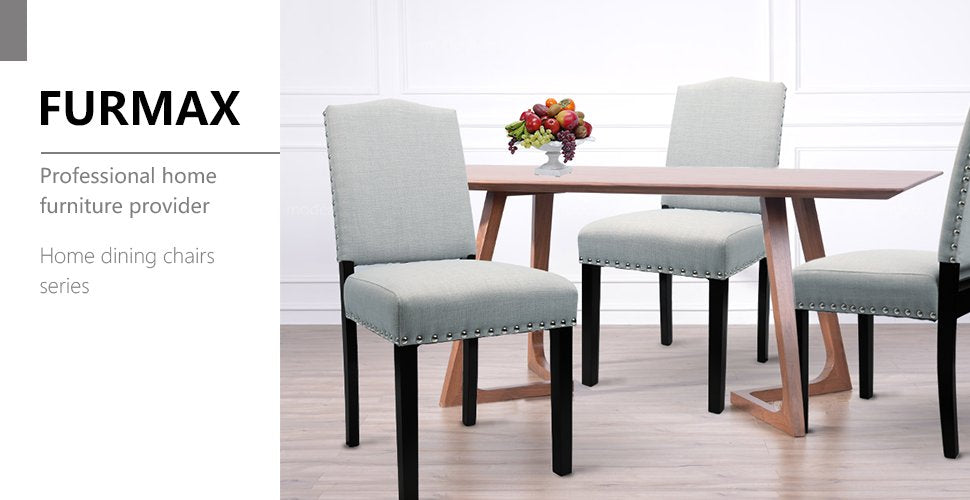 Furmax Dining Chairs Urban Style Fabric Parson Chair Side Chair (2 Pack)  (Gray)