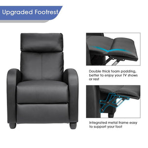 Homall Comfortable Home Theater Chair (Black) - HomallFurniture