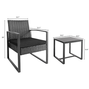 Homall Wicker outdoor 3 piece garden furniture - Furniwell