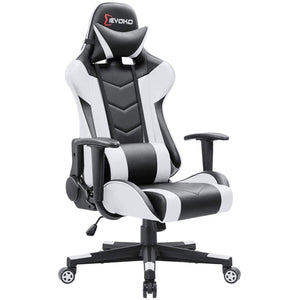 Devoko Ergonomic Gaming Chair Racing Style Adjustable Height High-Back PC Computer Chair with Headrest and Lumbar Support Office Chair