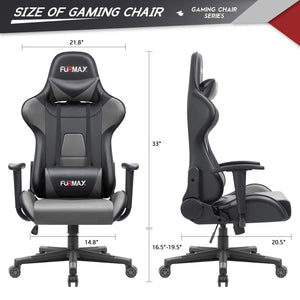 Furmax High-Back Gaming Office Chair Ergonomic Racing Style Adjustable Height Executive Computer Chair,PU Leather Swivel Desk Chair