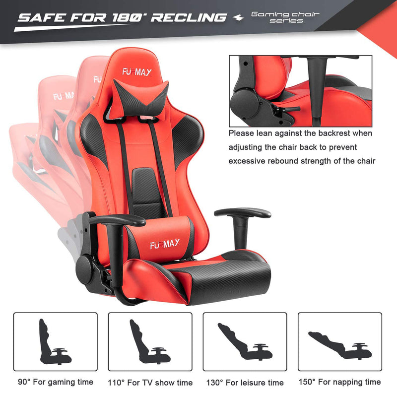 Furniwell High-Back Gaming Office Chair Ergonomic Racing Style Adjustable Height Executive Computer Chair,PU Leather Swivel Desk Chair