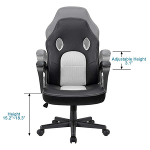 Furniwell Office Chair Leather Desk Chair, High Back Ergonomic Adjustable Racing Gaming Chair,Task Swivel Executive Computer Chair
