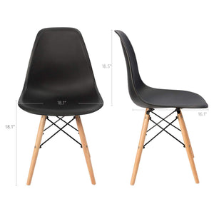 Furniwell Pre Assembled Modern Style Dining Chair Mid Century Modern DSW Chair,for Kitchen, Dining, Bedroom, Living Room