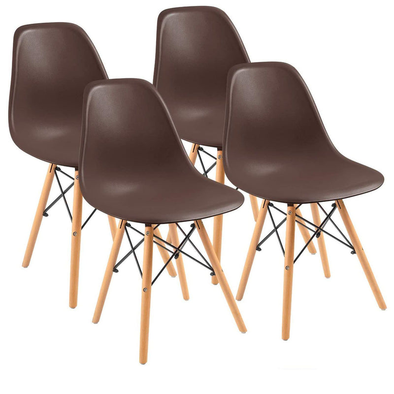 Furniwell 4 PCS Dining Chairs Pre Assembled Modern Style Kitchen Room Chairs Mid Century Modern DSW Chair Set of 4,for Kitchen, Dining, Bedroom, Living Room