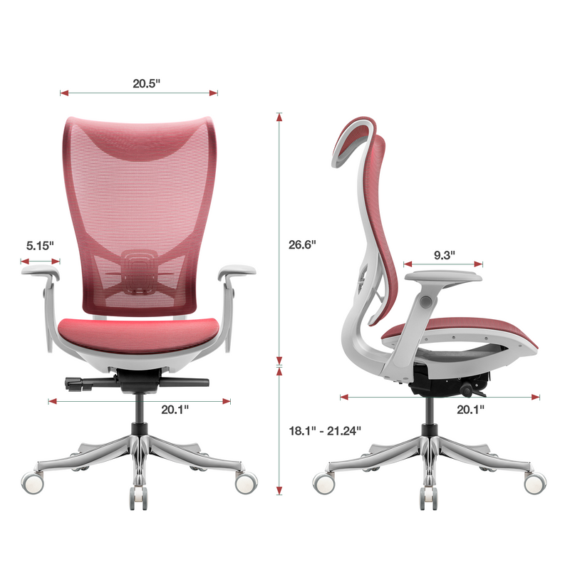 Furniwell Ergonomic Office Chair Red