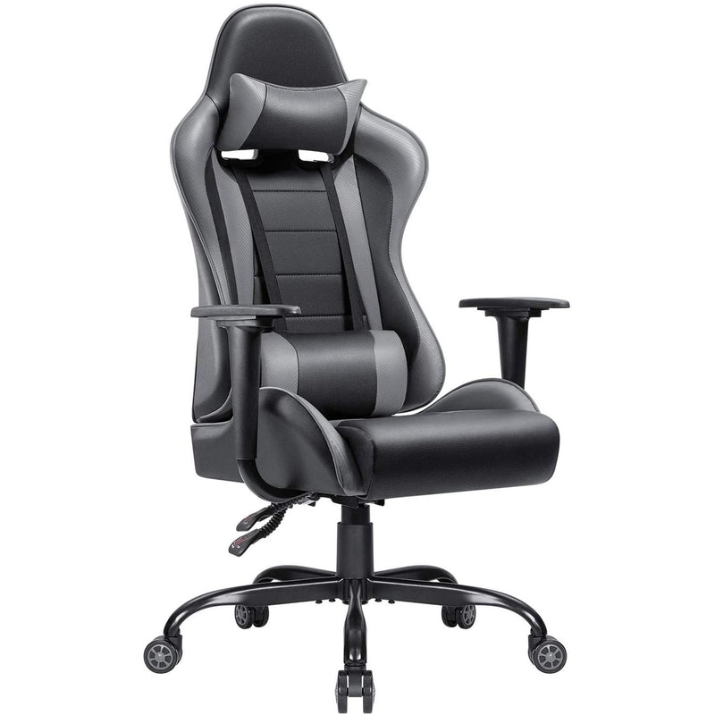 Furniwell Gaming Chair High-Back PU Leather Racing Chair Ergonomic Computer Desk Executive Home Office Chair with Headrest and Lumbar Support