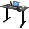 Furniwell Electric Standing Desk Height Adjustable 43 Inches Office Desk Computer Desk Stand Up Table Home Workstation with Wood Tabletop