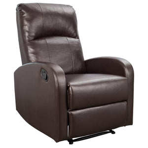 Furniwell Recliner Chair Padded PU Leather Home Theater Seating Modern Chaise Couch Lounger Sofa
