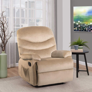 Furniwell Home Recliner Chair Super Soft Short Fluff Sofa Adjustable Theater Seating Single Recliner Classic Lounge Living Room Chair